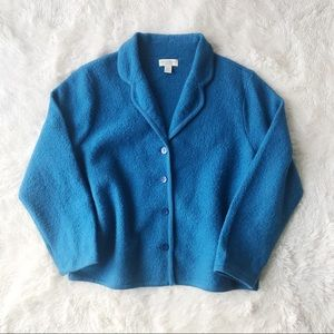 Appleseed's blue wool boiled wool blazer Sz PXL